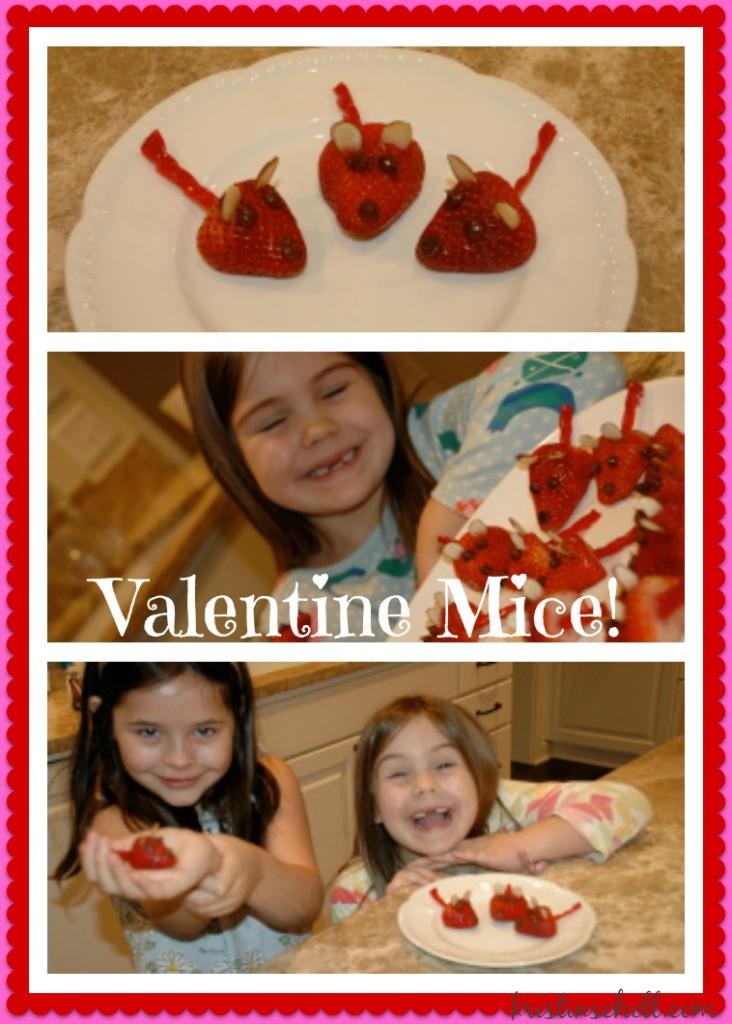 Valentine Mice | healthy strawberry treats for Valentine's Day | theturquoisetable.com