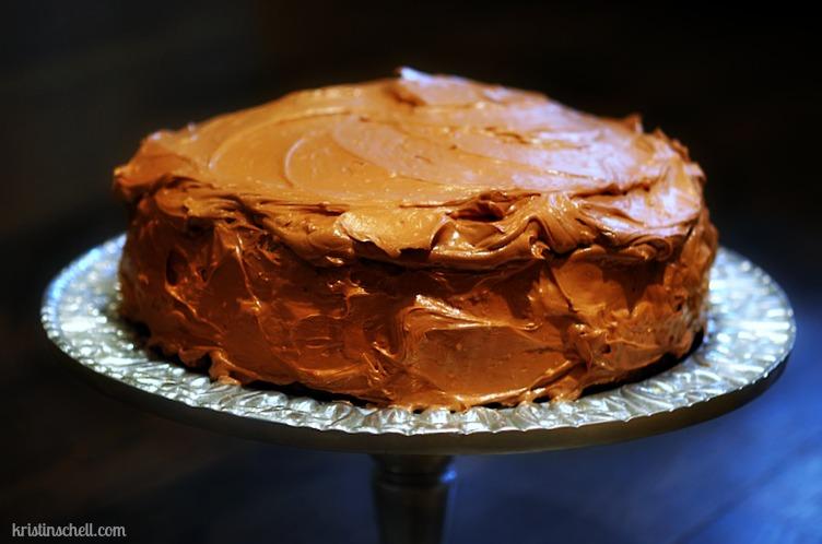Double Layer Chocolate Espresso Cake WM