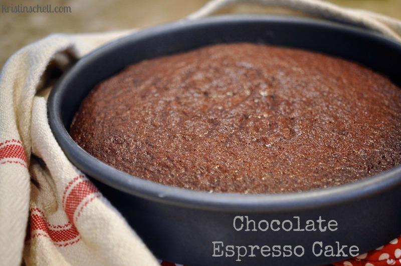 Double Layer Chocolate Espresso Cake
