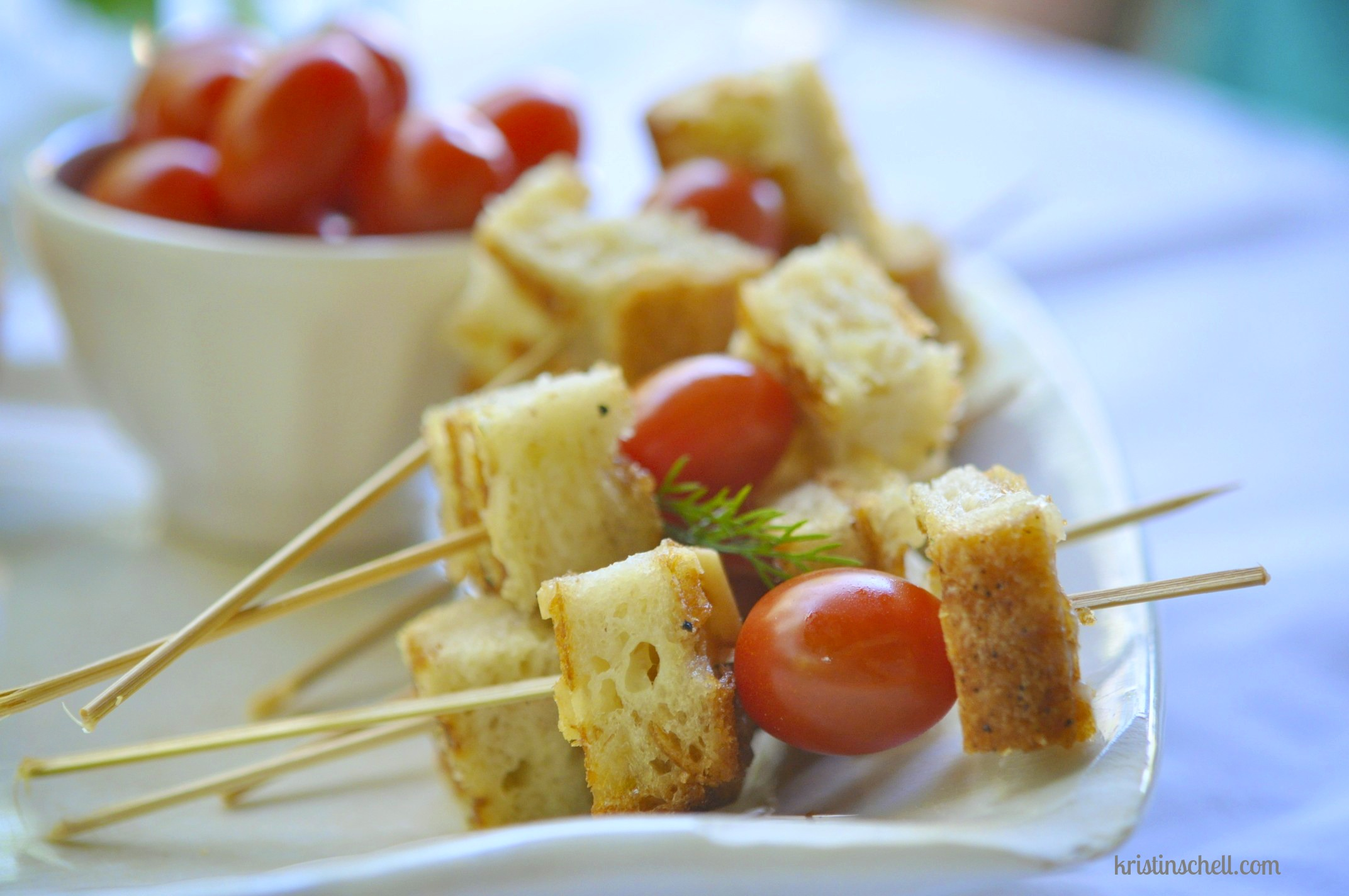 Grilled Cheese Croutons & Tomato Soup - Kristin Schell