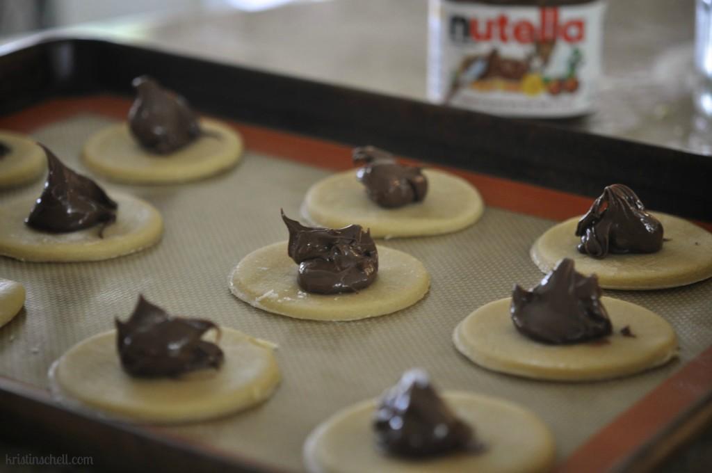 Nutella Hamantashen Cookie Recipe | ideas for celebrating Purim | kristinschell.com