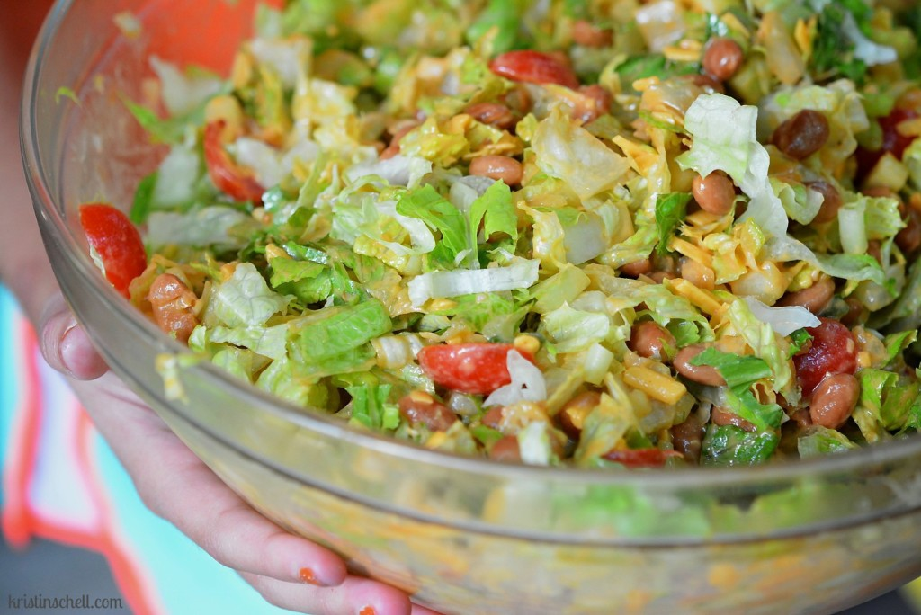 Fiesta Bean Salad with Catalina Dressing from Kristin Schell