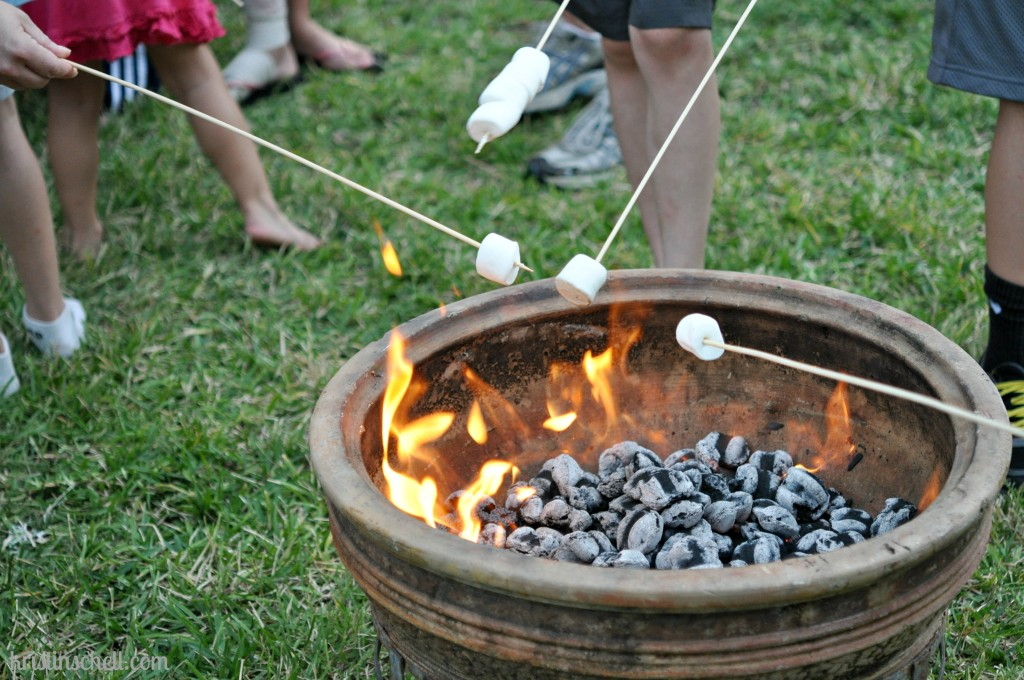 Ways to offer Outrageous Hospitality without cooking Have a S'mores Party