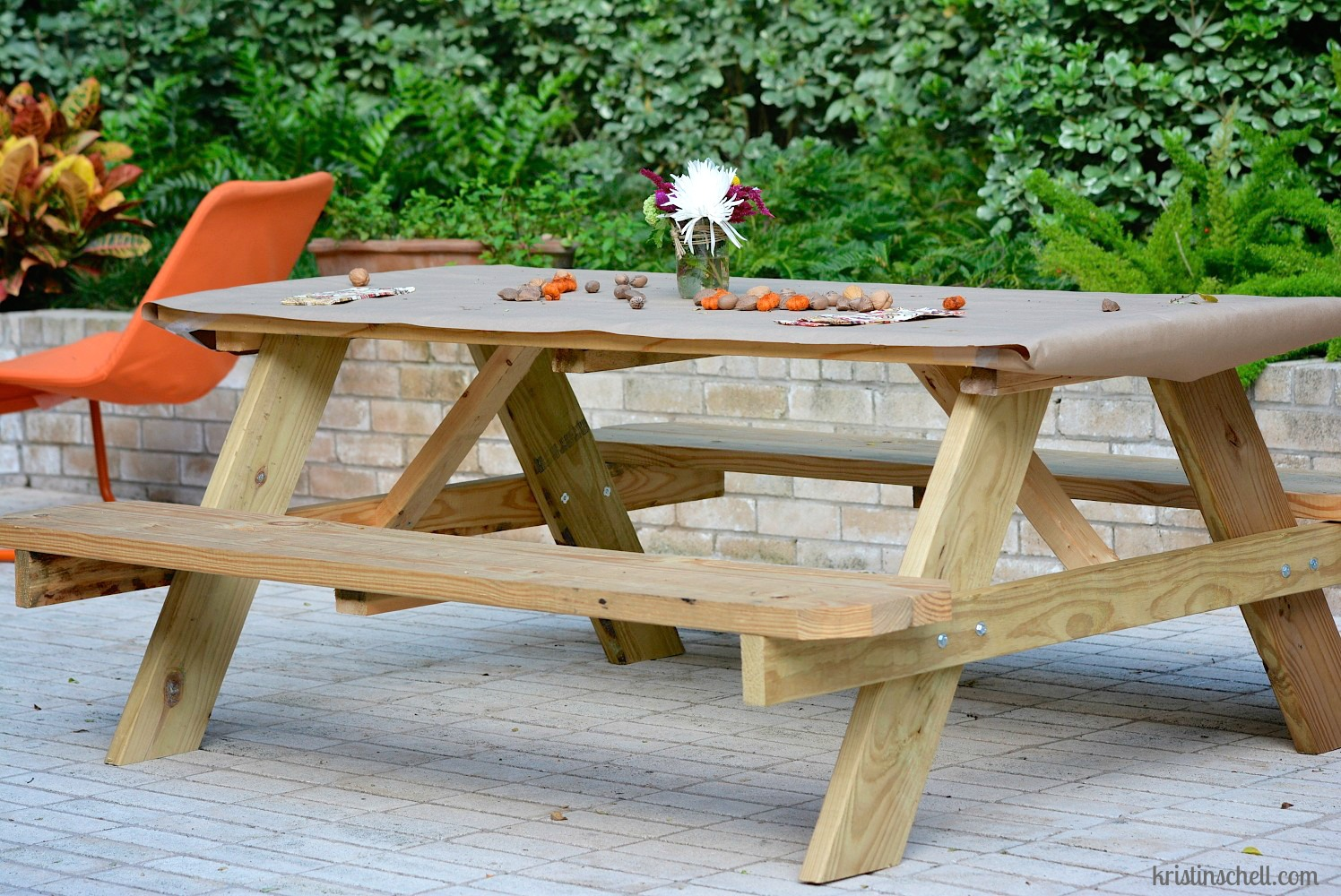 31 days front yard people kristin schell for 10 person picnic table