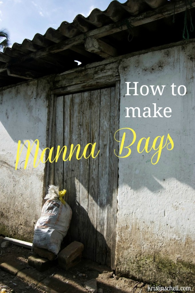 How to Make Manna Bags  31 Days of Outrageous Hospitality with Kristin Schell