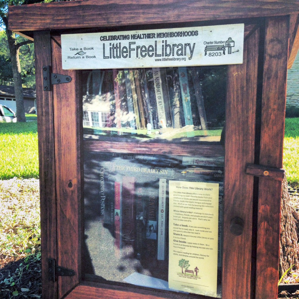 Create a Little Free Library in your neighborhood. 31 Days of Outrageous Hospitality with Kristin Schell