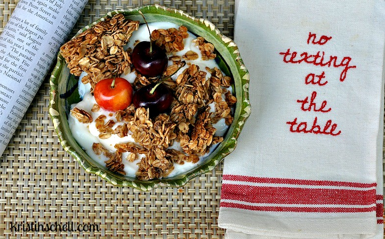 Easy Homemade Granola | 31 Days of Outrageous Hospitality with Kristin Schell