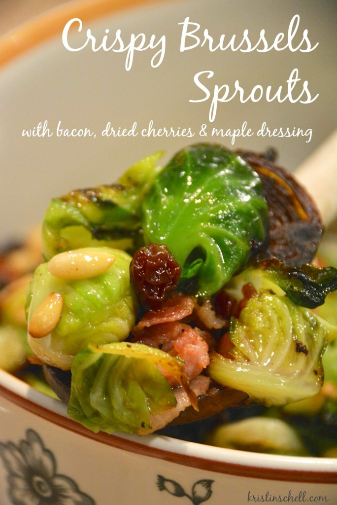 Crispy Brussels Sprouts | 52 Sunday Suppers with Susie & Kristin | kristinschell.com