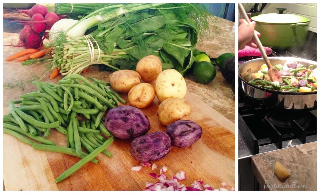 Southern Green Beans & Potatoes   kristinschell.com