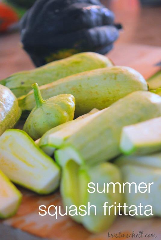 Summer Squash Frittata   easy recipe   kristinschell.com