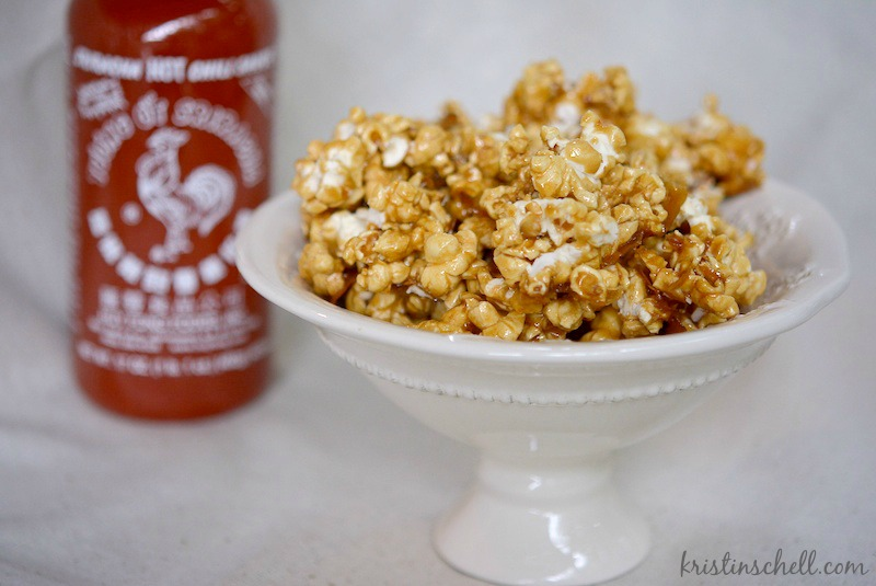 Sweet & Spicy Caramel Popcorn | easy homemade caramel corn with a kick! | kristinschell.com