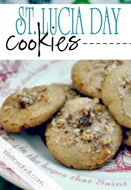 Delicious cookie recipe for celebrating St. Lucia Day during Advent. Easy family Christmas tradition for your family.