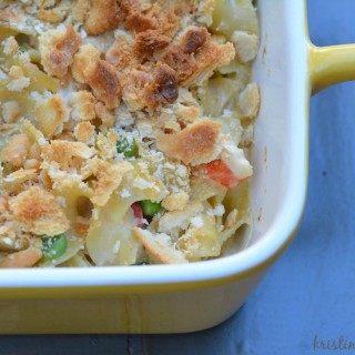 Chicken Noodle Casserole | an updated version of a classic family dinner