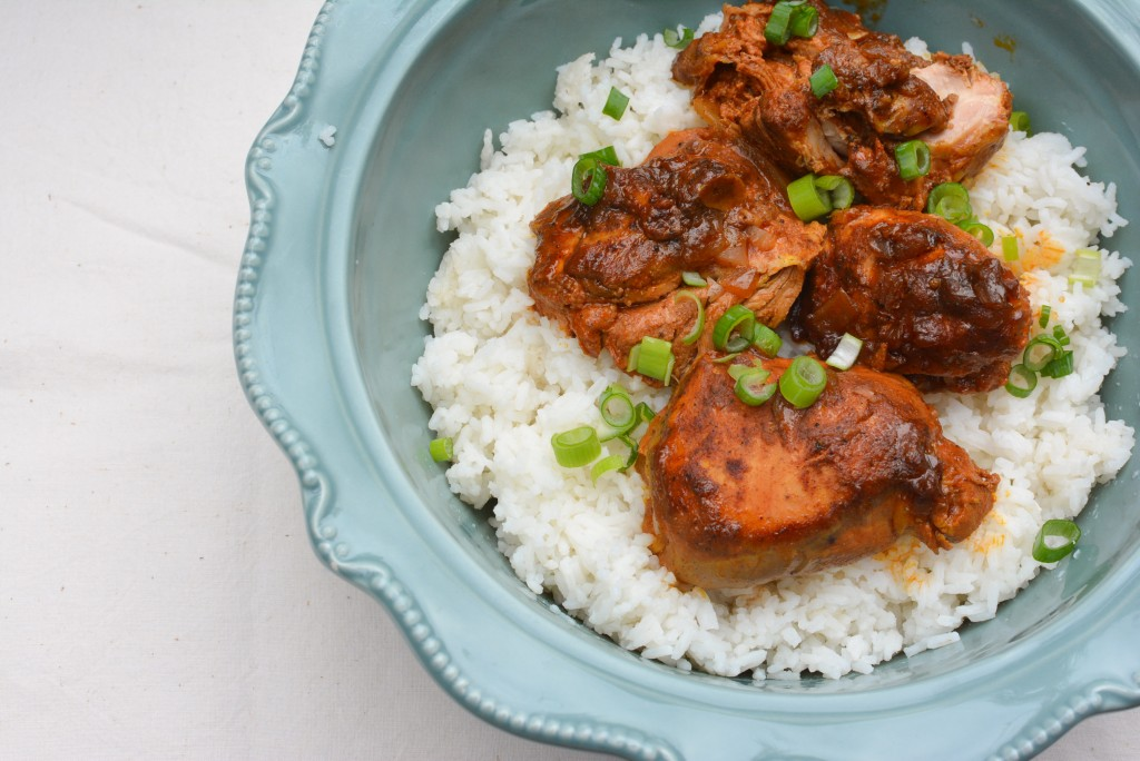 Curried Chicken with Ginger & Yogurt {Slow Cooker}