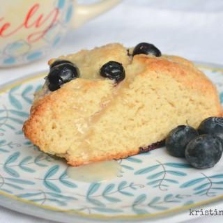 Blueberry Scones with Vanilla Glaze | kristinschell.com