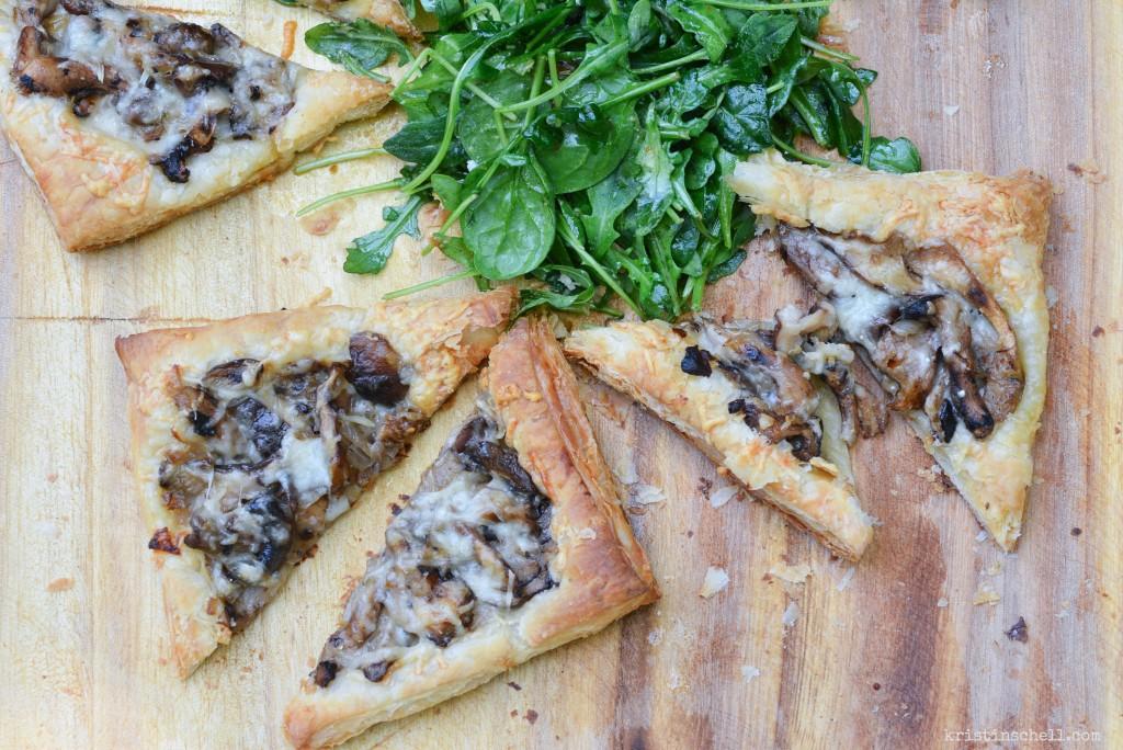 Simple Mushroom & Gruyere Tart