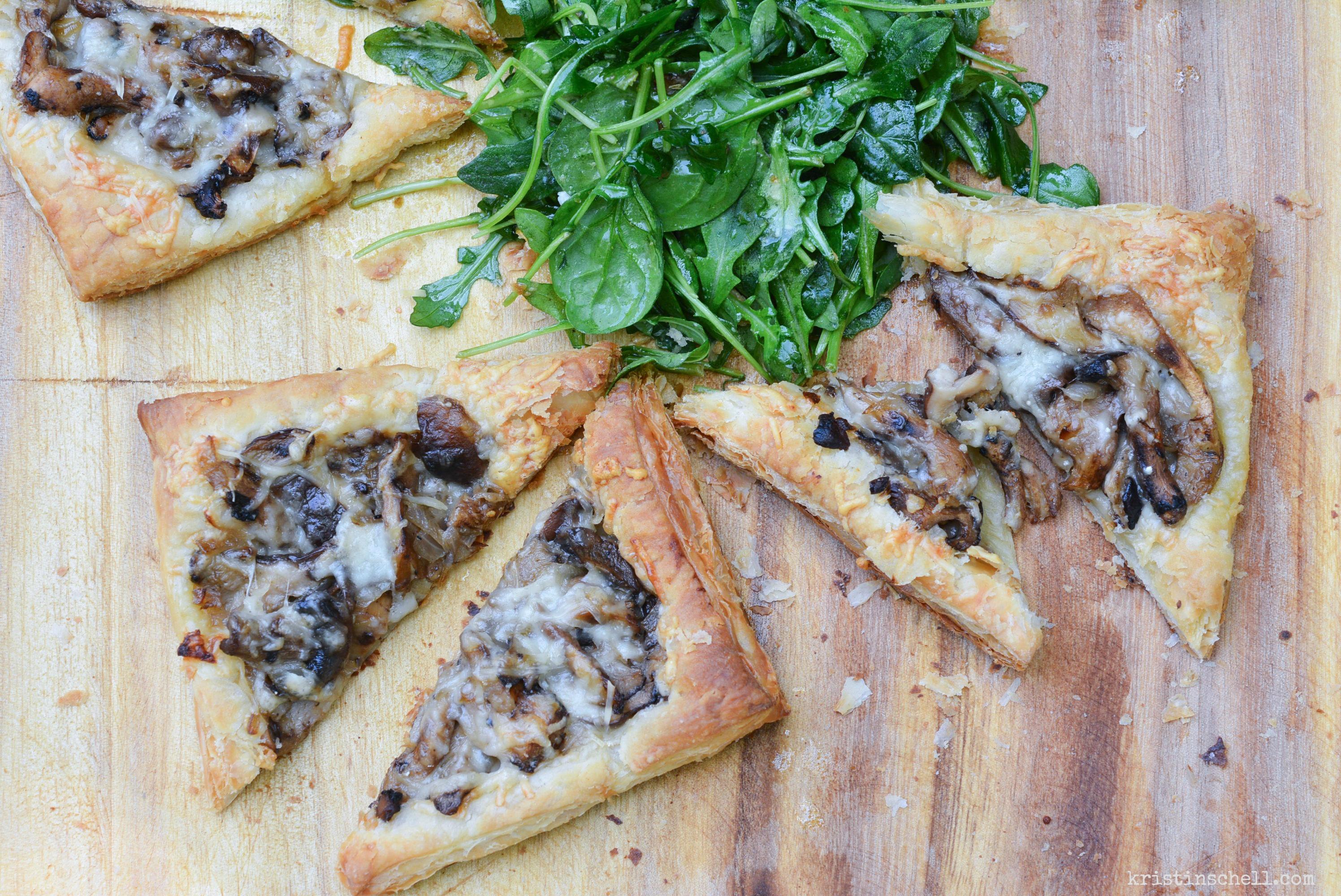 Simple Mushroom and Gruyere Tart