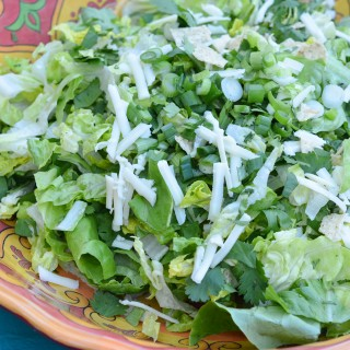 Mexican Caesar Salad with Creamy Avocado Dressing | kristinschell.com