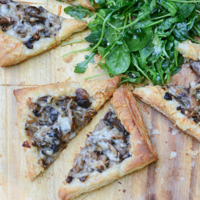 Simple Mushroom and Gruyere Tart