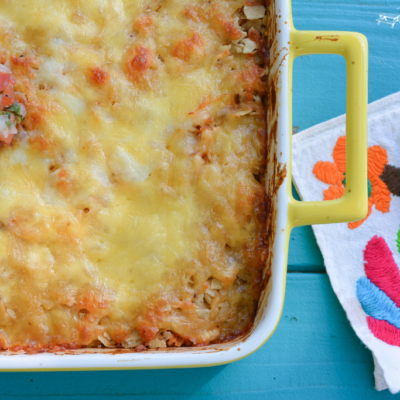 5 Ingredient Tex-Mex Casserole   Our go-to easy, one dish supper   theturquoisetable.com
