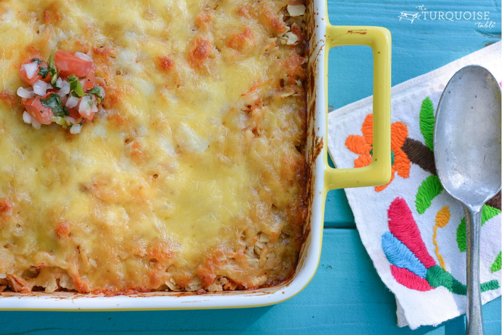 5 Ingredient Tex-Mex Casserole | Our go-to easy, one dish supper | theturquoisetable.com