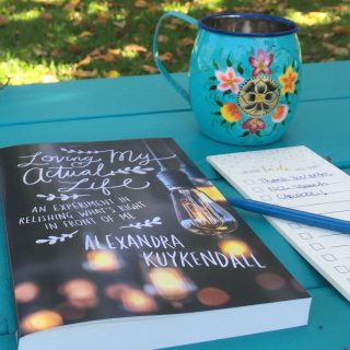 Loving My Actual Life by Alexandra Kuykendall Freebie Friday Book Giveaway at The Turquoise Table