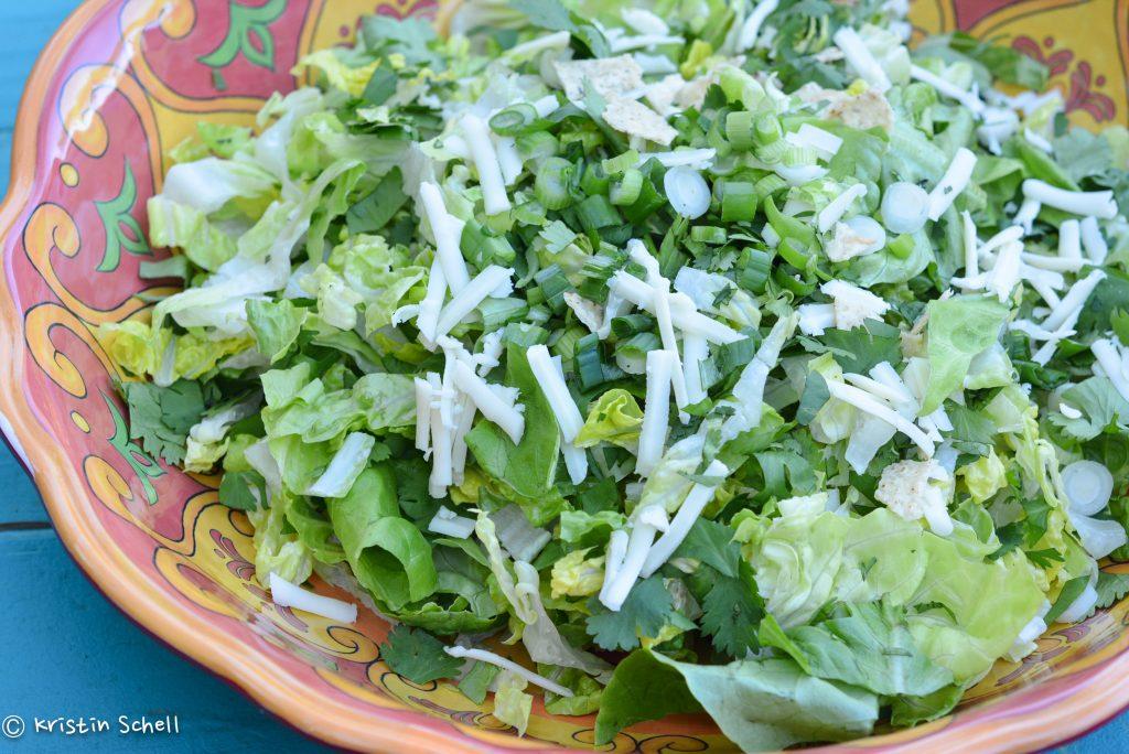 Mexican Caesar Salad with Creamy Avocado Dressing