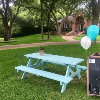 Share the Love: one woman gives her Turquoise Table to a neighbor when her family moves. One table. Two owners. Countless new relationships in a neighborhood in Belton, Texas | kristinschell.com