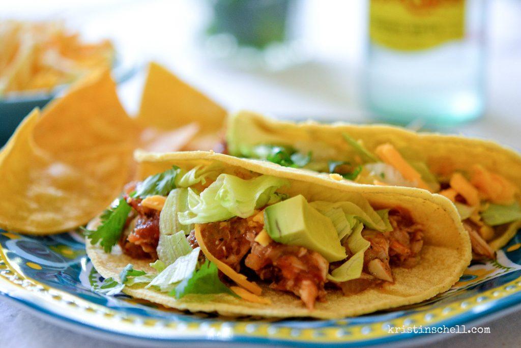 Chicken Tinga Tacos made easy in the crock pot. kristinschell.com