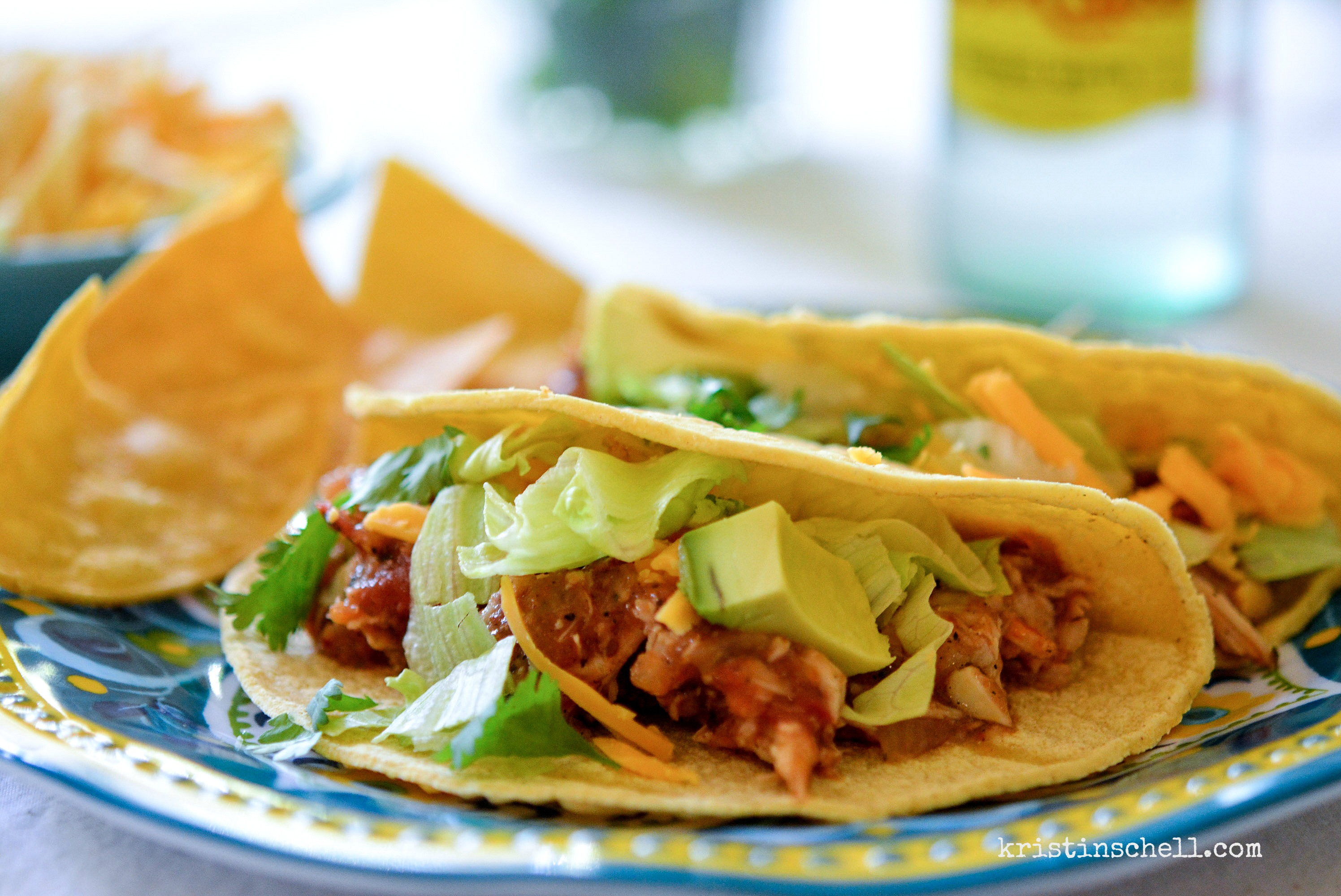 Crock Pot Chicken Tinga Tacos - The Turquoise Table
