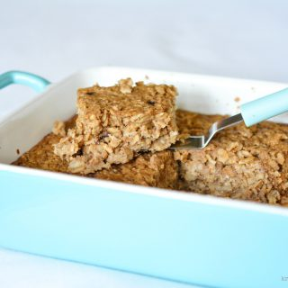 Fall's most anticipated flavor -- the Pumpkin Spice Latte -- served  as baked oatmeal for a delicious morning breakfast. kristinschell.com