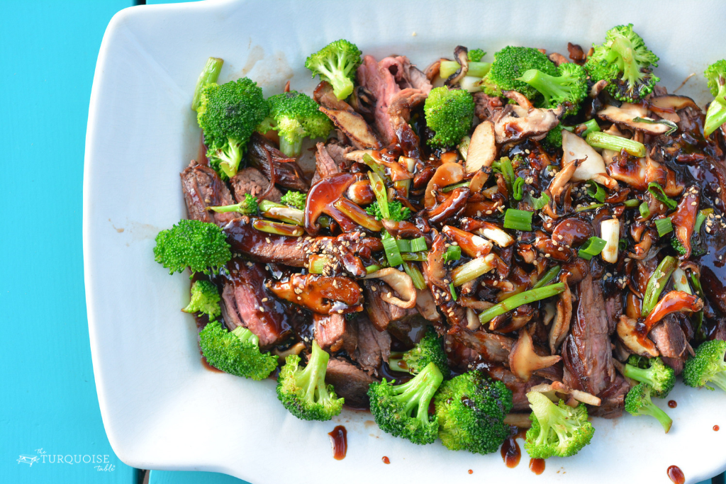 Teriyaki Flank Steak with Scallions