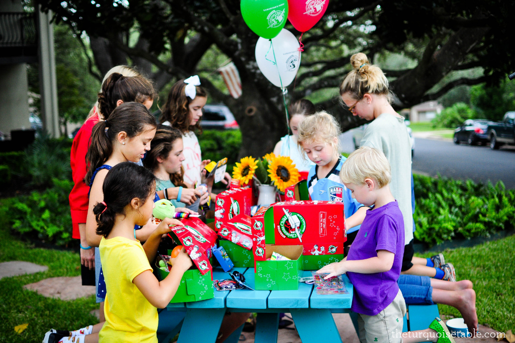Host an Operation Christmas Child Packing Party at Your Turquoise Table!