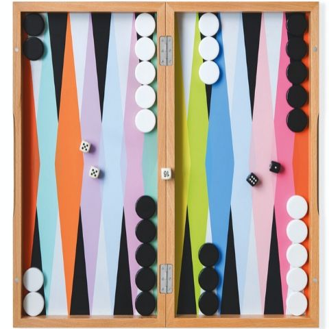 MoMa Colorful Backgammon Set - The 2019 Turquoise Table Gift Guide