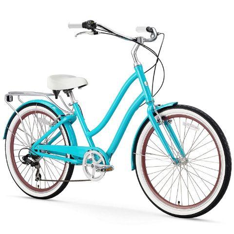 Turquoise Neighborhood Cruiser Bicycle