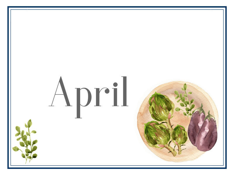April Suppers for Sharing