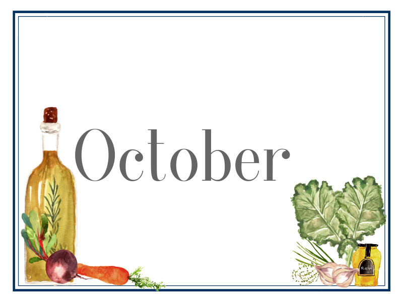 October Suppers for Sharing