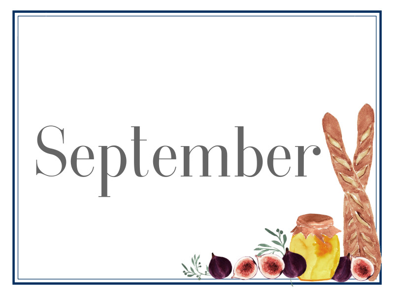 September Suppers for Sharing